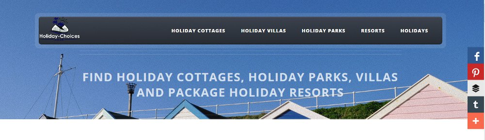 The header of Holiday Choices
