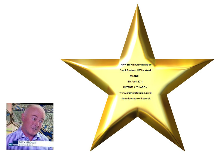 Winner of Nick Brown's small business of the week award