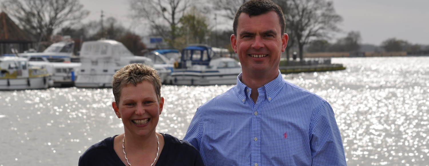 Susan and John, owners of Internet Affiliation, in Oulton Broad Suffolk.