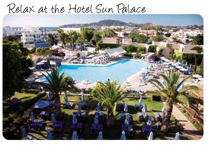 Hotel Sun Palace in Rhodes