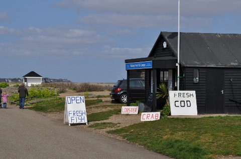 Locally caough fish in Aldeburgh