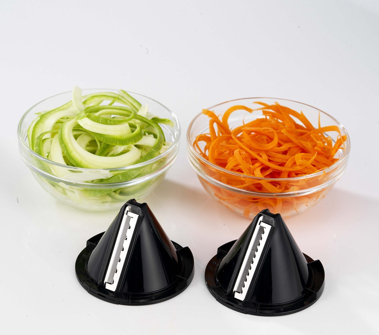 Some of the veg produced by the Morphy Richards 432020 Electric Spiralizer